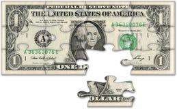 budget- begreppsdollar Arkivbild