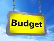 Budget on billboard stock illustration