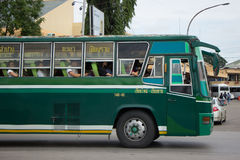 Budget Bus of Greenbus Company Stock Image