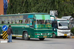 Budget Bus of Greenbus Company Stock Photo