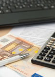 Budget calculation Royalty Free Stock Image