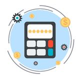 Budget calculation vector concept Stock Photos