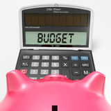 Budget Calculator Shows Accounting And Management Report Stock Photography