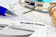 Budget Charts Stock Photo