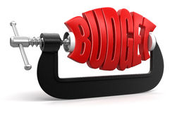 Budget in clamp (clipping path included) Royalty Free Stock Images