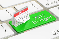 2017 budget concept. 3D rendering Stock Images