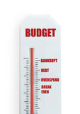 Budget concept thermometer Stock Images