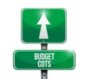 Budget cost road sign illustration design Stock Images