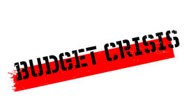 Budget Crisis rubber stamp. Grunge design with dust scratches. Effects can be easily removed for a clean, crisp look. Color is easily changed Stock Photo