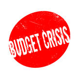 Budget Crisis rubber stamp. Grunge design with dust scratches. Effects can be easily removed for a clean, crisp look. Color is easily changed Stock Photography