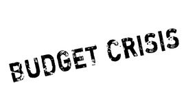 Budget Crisis rubber stamp. Grunge design with dust scratches. Effects can be easily removed for a clean, crisp look. Color is easily changed Royalty Free Stock Image