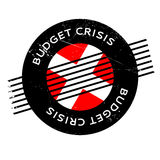 Budget Crisis rubber stamp. Grunge design with dust scratches. Effects can be easily removed for a clean, crisp look. Color is easily changed Royalty Free Stock Photography