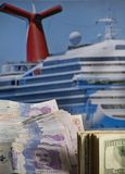 Budget for cruise tour stock photography