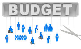 Budget cut social security Royalty Free Stock Photography