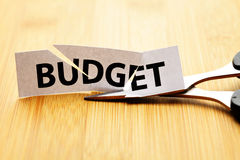 Budget cut Royalty Free Stock Images