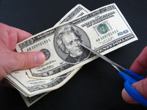 budget cut taxes στοκ φωτογραφία με δικαίωμα ελεύθερης χρήσης