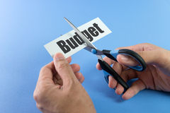 Budget cutting Stock Photography
