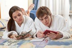 Budget de famille. Images libres de droits