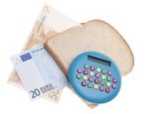 Budget de nourriture Images libres de droits