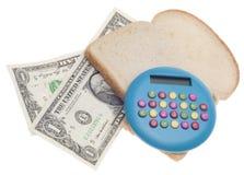 Budget de nourriture Photos libres de droits