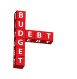 Budget and Debt Stock Image
