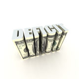 Budget Deficit. US Federal Budget Deficit on White Royalty Free Stock Photography