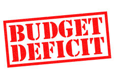 BUDGET DEFICIT Royalty Free Stock Photo