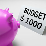 Budget Dollars Shows Spending And Costs Savings Stock Photos