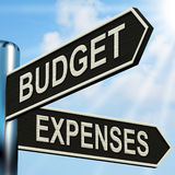 Budget Expenses Signpost Means Business Royalty Free Stock Photo