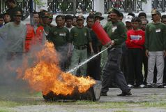 BUDGET FÖR INDONESIEN KATASTROFLEDNING Royaltyfria Foton