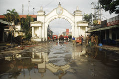 BUDGET FÖR INDONESIEN RESNINGINFRASTRUKTUR Arkivbilder