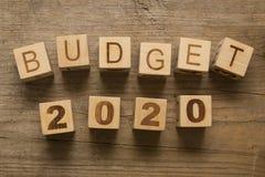 Budget für 2020 Stockfotos