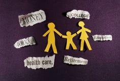 Budget family Stock Photo