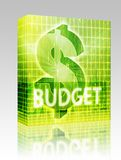 Budget Finance illustration box package Stock Photos
