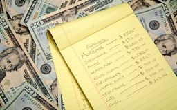 budget- finansiering Royaltyfri Fotografi