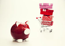 Budget for Gift. Retro Colors Royalty Free Stock Image