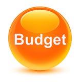 Budget glassy orange round button Stock Photo