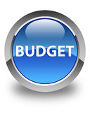 Budget glossy blue round button Royalty Free Stock Image