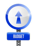 Budget going up road sign illustration design Royalty Free Stock Photo