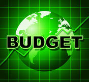 Budget Graph Means Costing Expenditure And Statistic Stock Photos