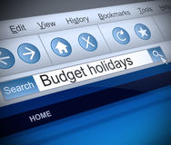 Budget holidays concept. Stock Image