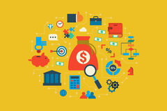 Budget illustration concept Stock Image