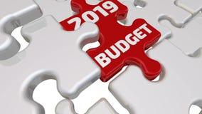 Budget 2019 Inskriften på den saknade beståndsdelen av pusslet
