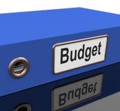 Budget- mapp med rapport på utgifterplan Royaltyfri Fotografi