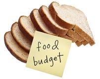 budget- mat arkivbild