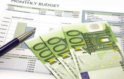 Budget mensuel Images stock