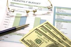 Budget mensuel 2 Photos libres de droits
