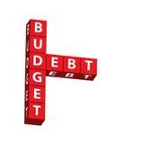 Budget och skuld fotografering för bildbyråer