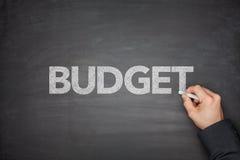Budget på svart tavla Arkivfoton