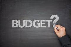 Budget på svart tavla Royaltyfri Fotografi